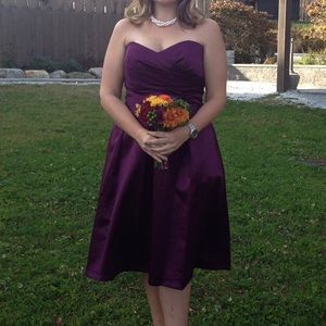 After Six Bridesmaid dress size 16 in Aubergine